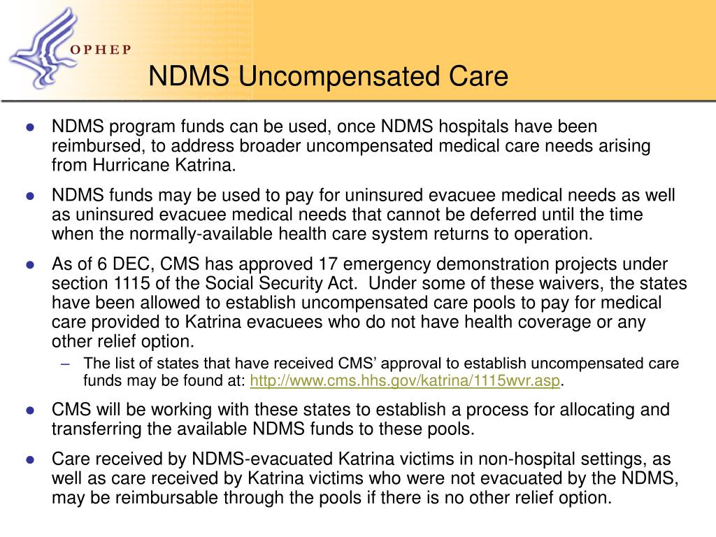 NDMS Uncompensated Care