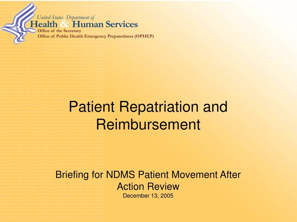 Patient Repatriation and Reimbursement