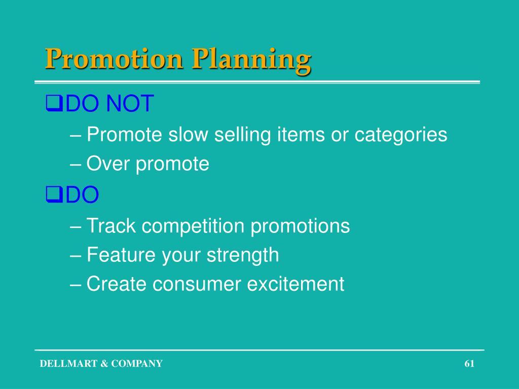 Promotion Planning