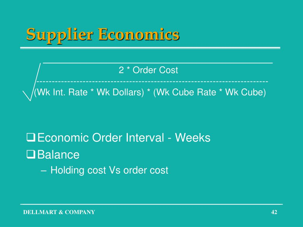 Supplier Economics