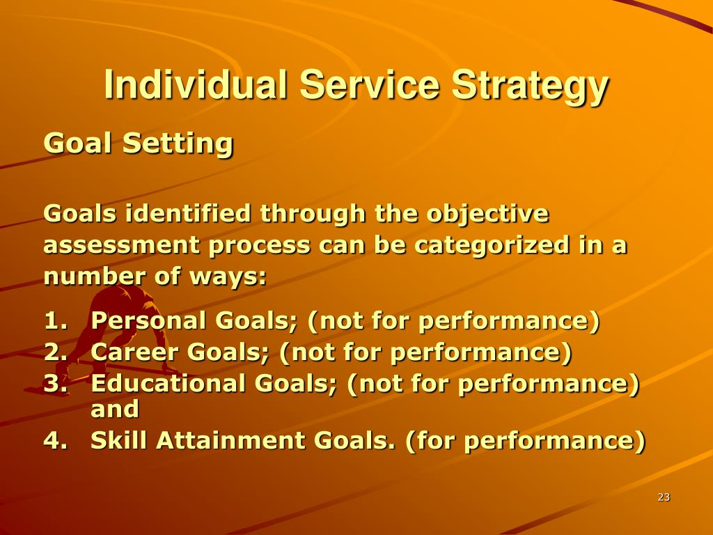 Individual Service Strategy