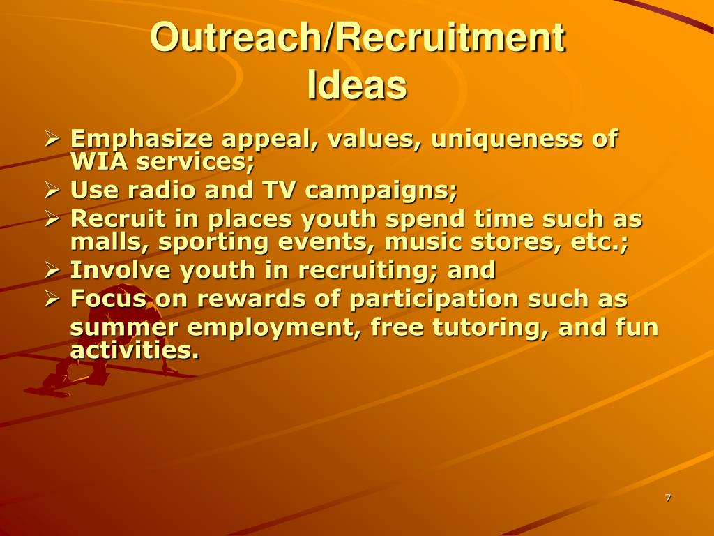 Outreach/Recruitment