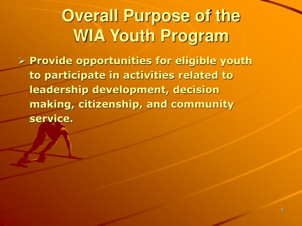 Overall Purpose of the