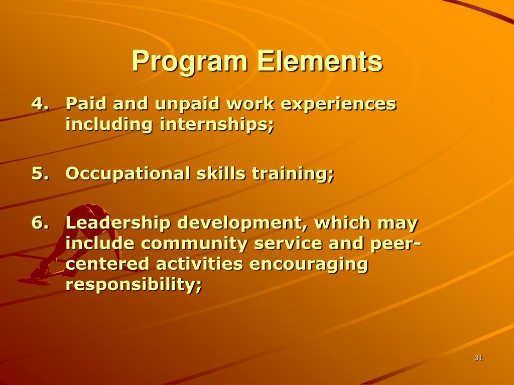 Program Elements