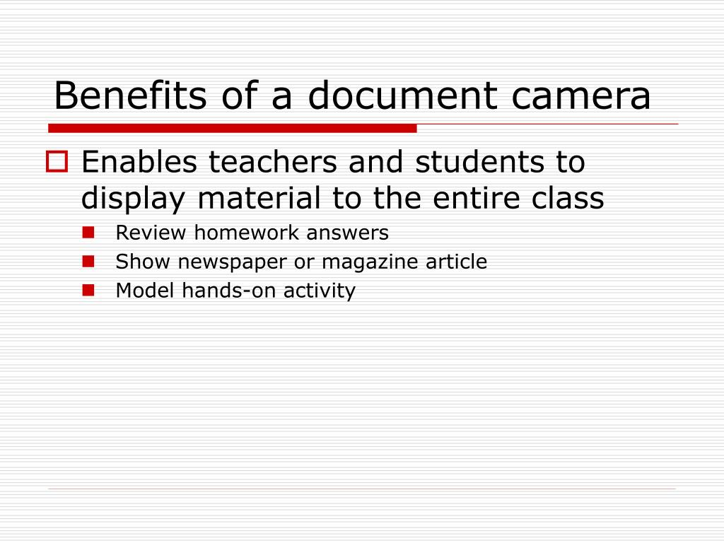 Benefits of a document camera