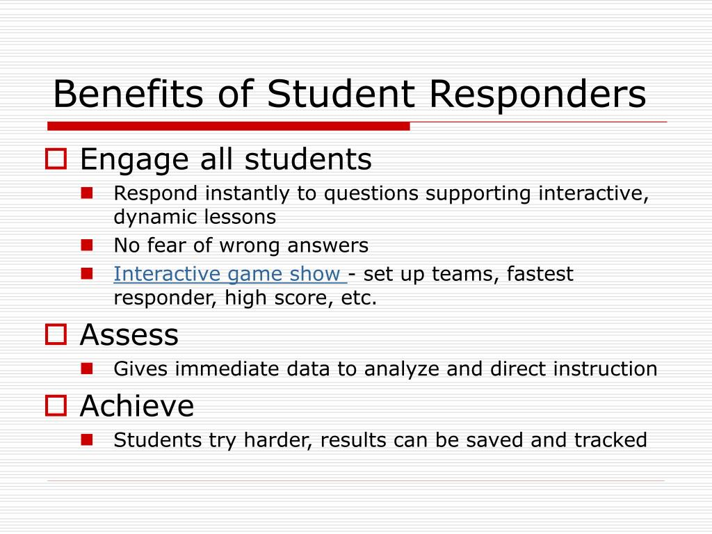 Benefits of Student Responders