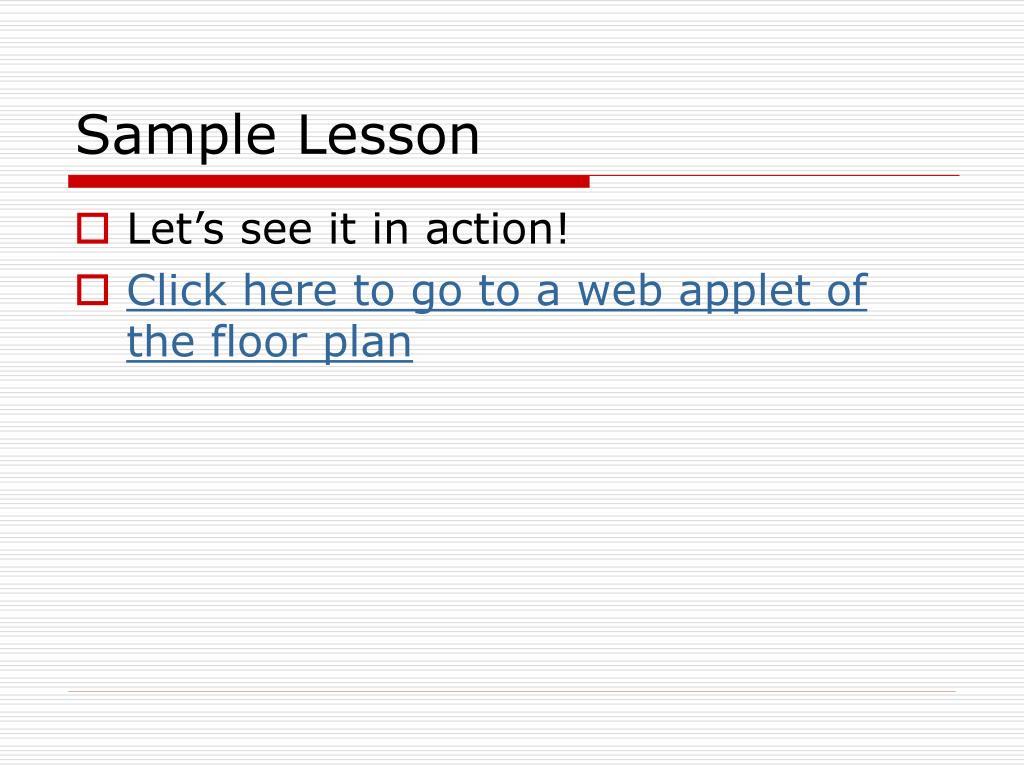 Sample Lesson