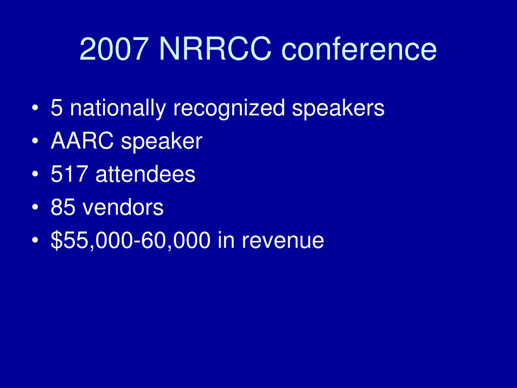 2007 NRRCC conference
