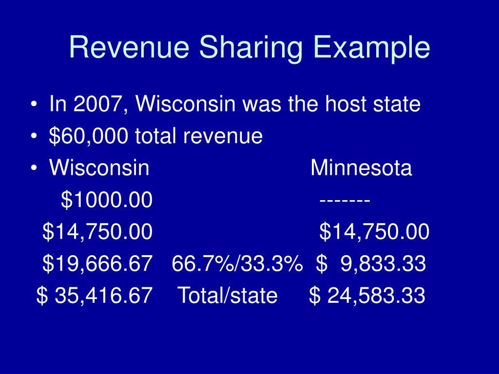 Revenue Sharing Example