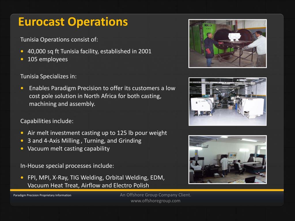 Eurocast Operations
