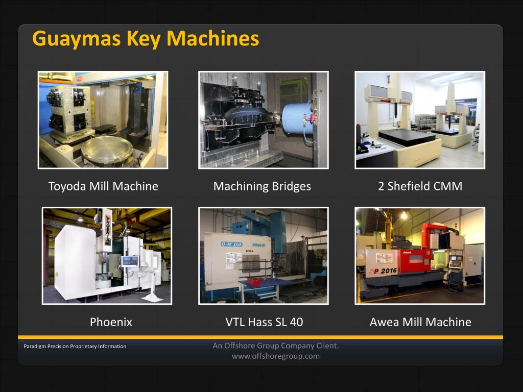 Guaymas Key Machines