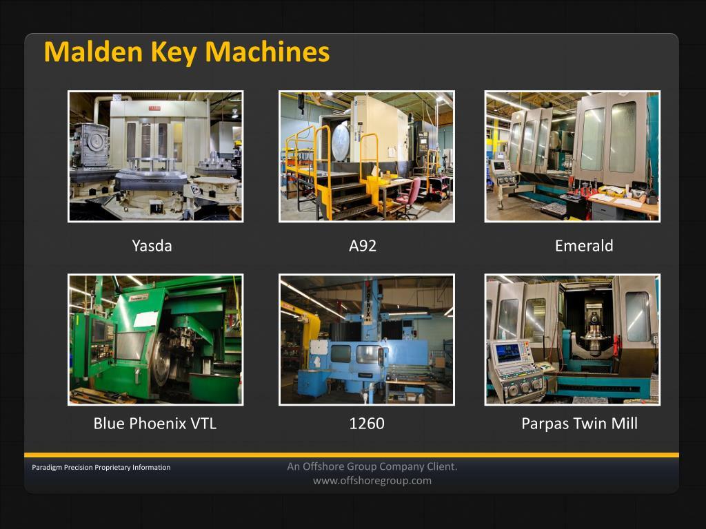 Malden Key Machines