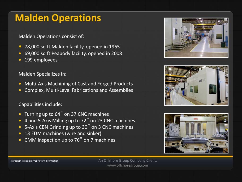 Malden Operations