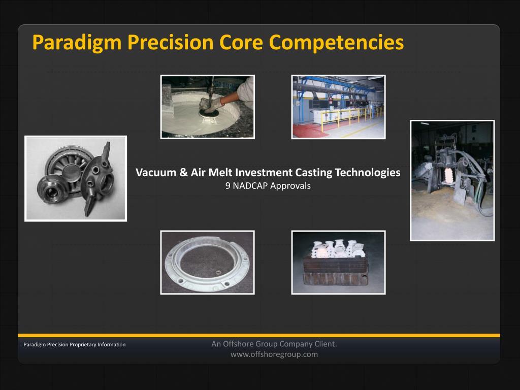 Paradigm Precision Core Competencies