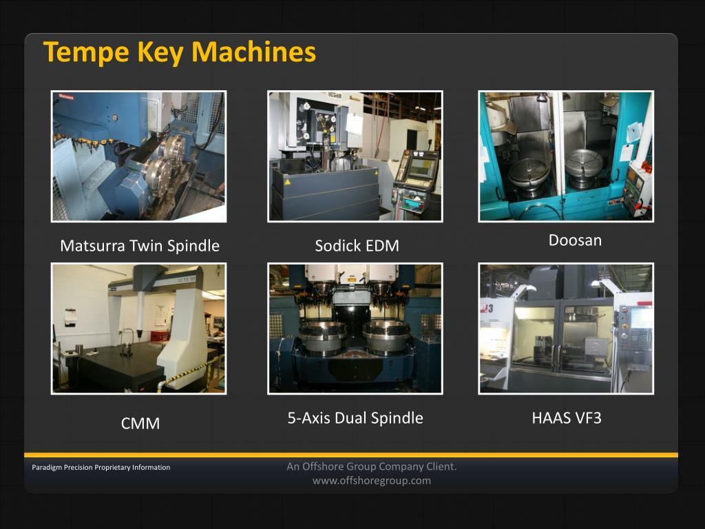 Tempe Key Machines
