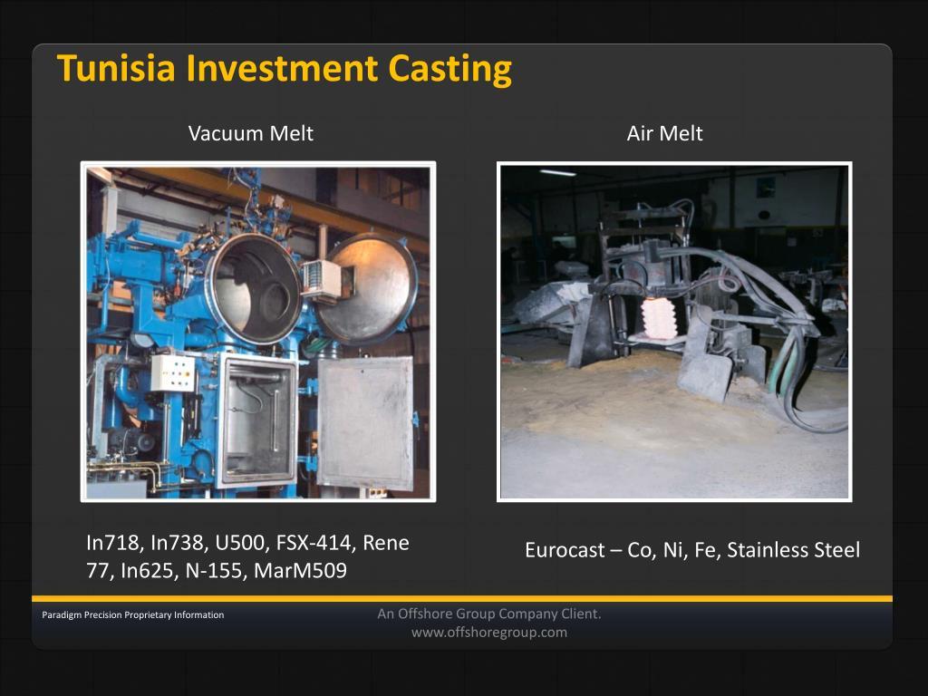 Tunisia Investment Casting