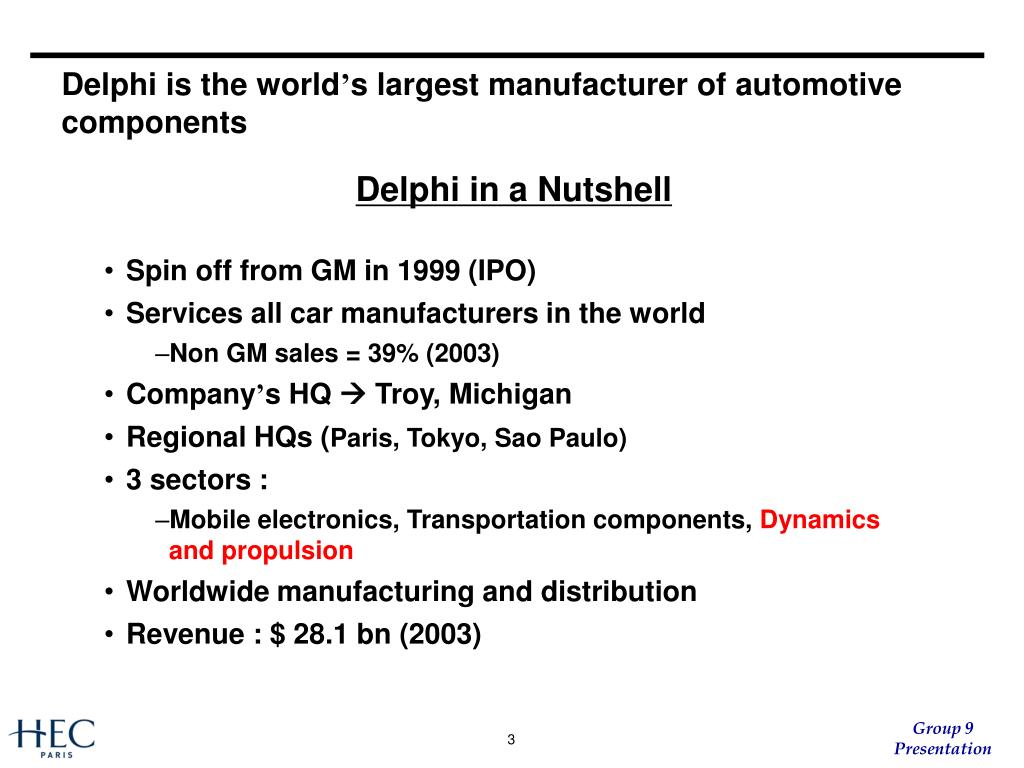 Delphi is the world