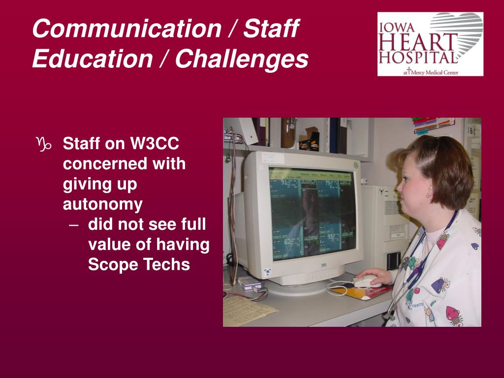 Communication / Staff Education / Challenges