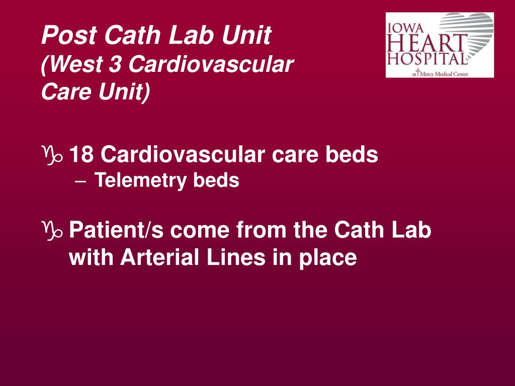 Post Cath Lab Unit
