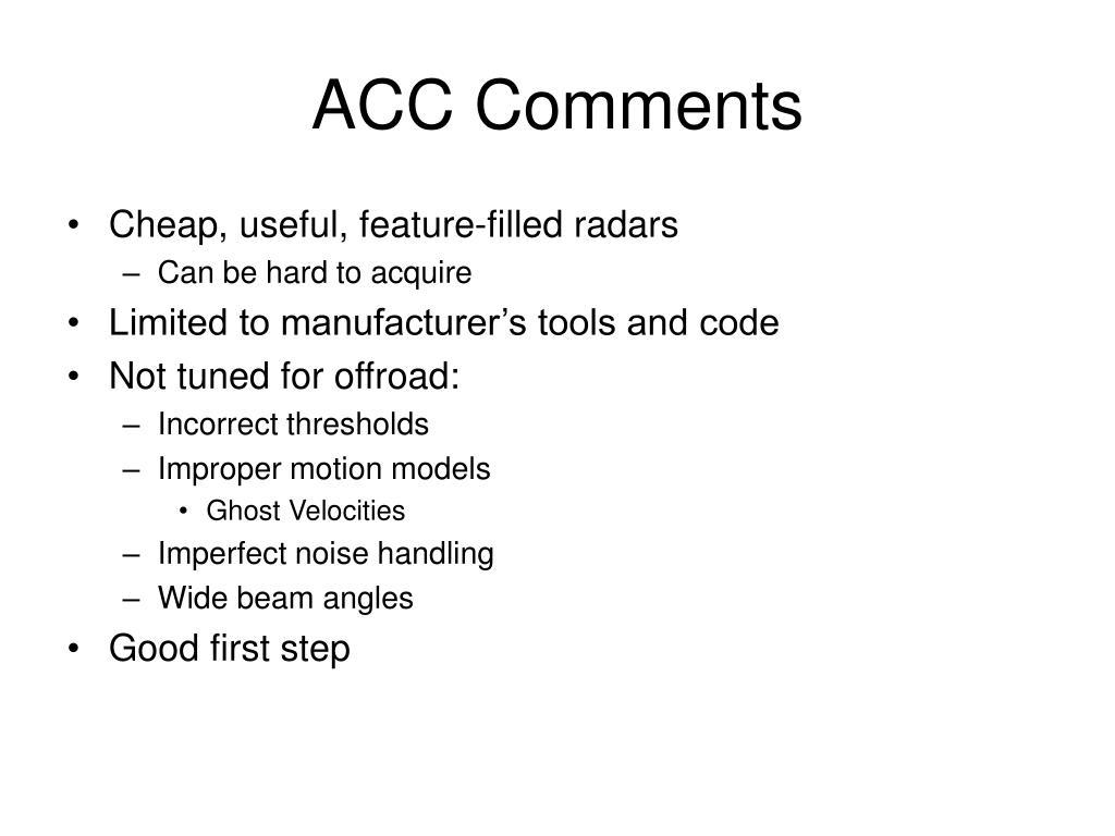 ACC Comments