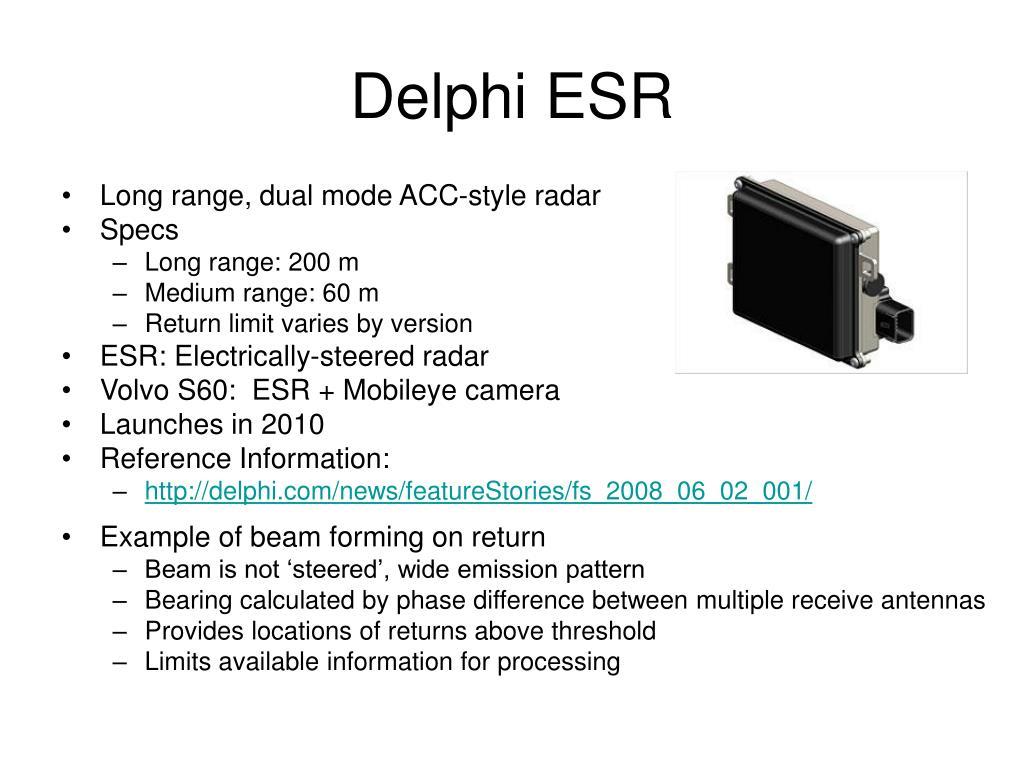 Delphi ESR