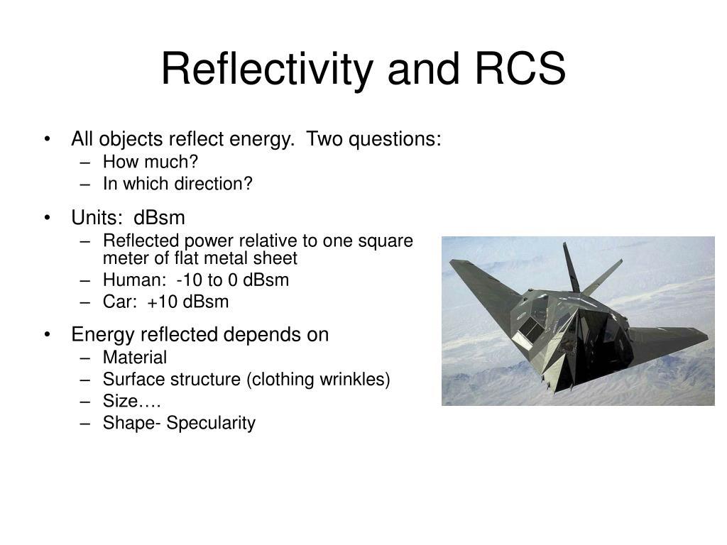 Reflectivity and RCS