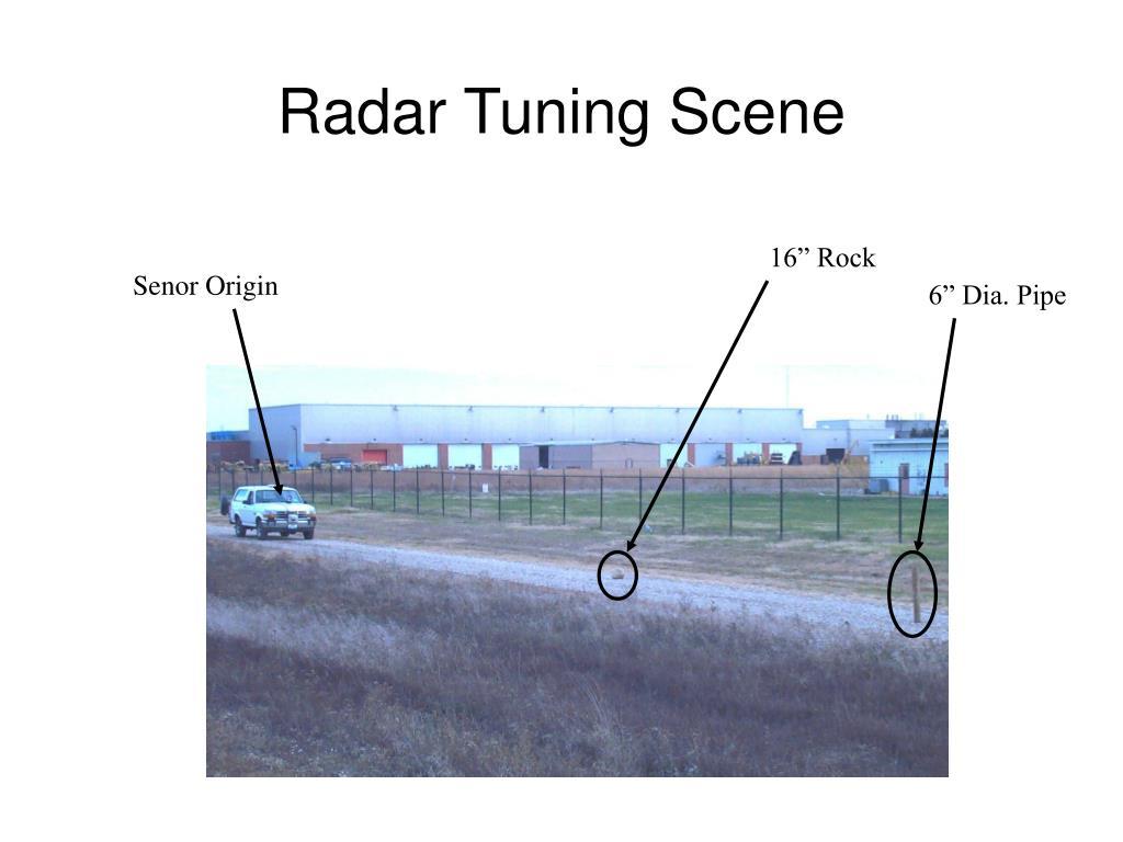 Radar Tuning Scene