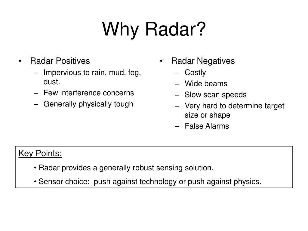 Radar Positives