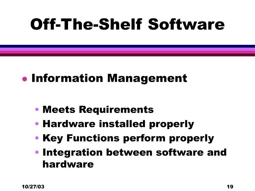 Off-The-Shelf Software
