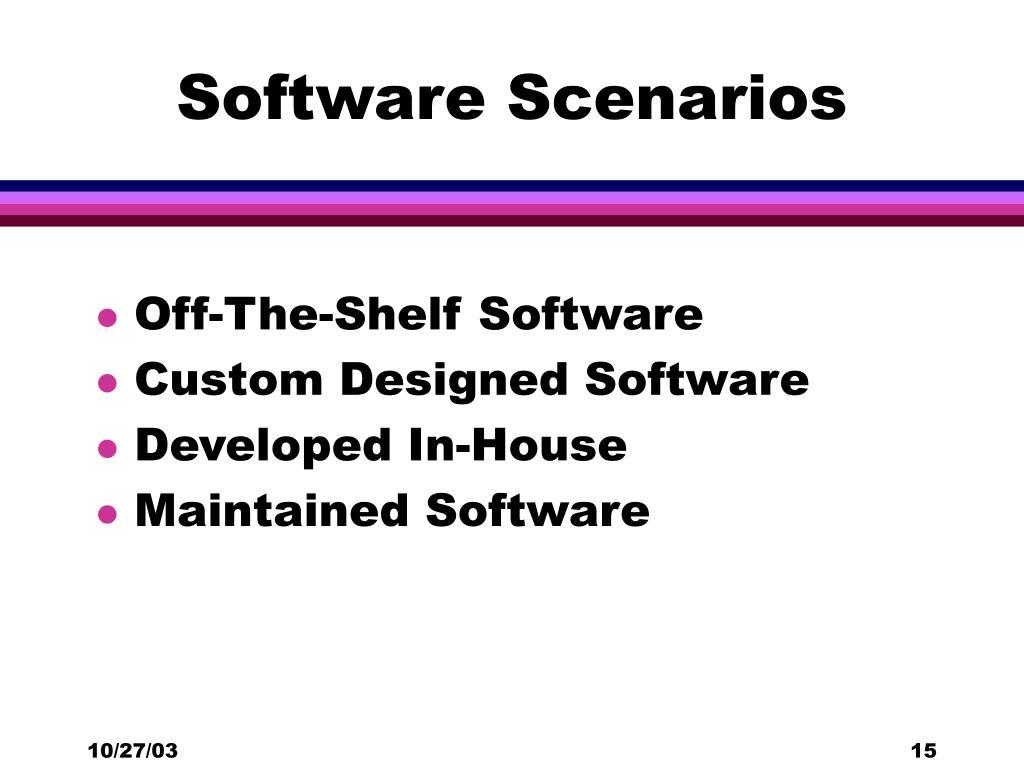 Software Scenarios