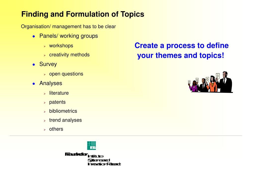 Finding and Formulation of Topics