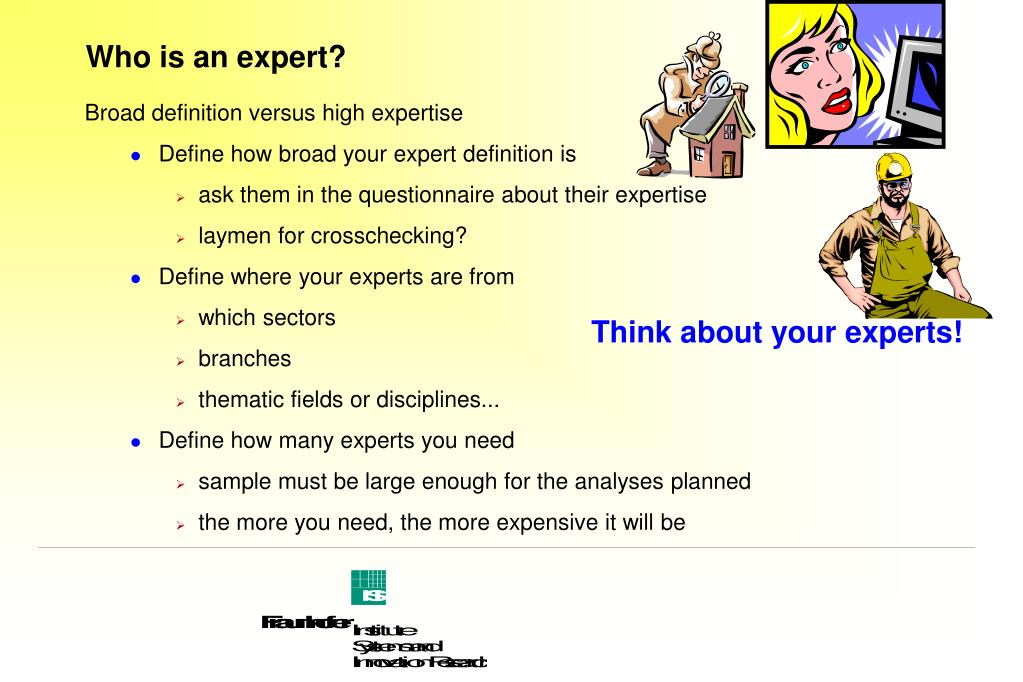 Who is an expert?