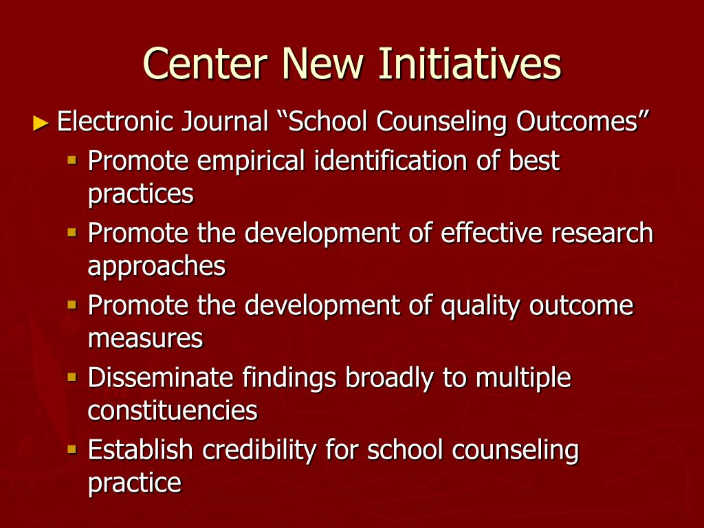 Center New Initiatives