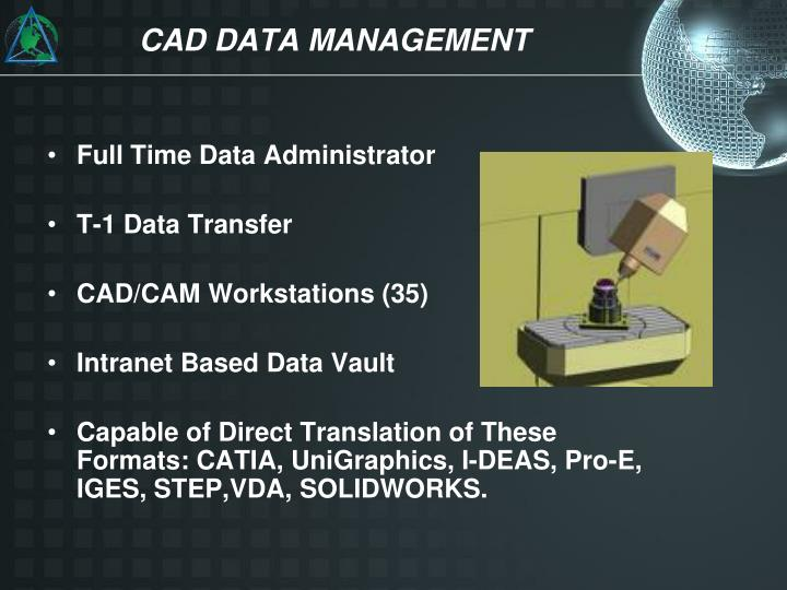 CAD DATA MANAGEMENT