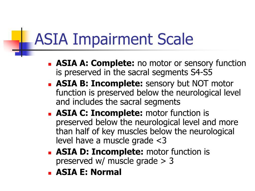ASIA Impairment Scale