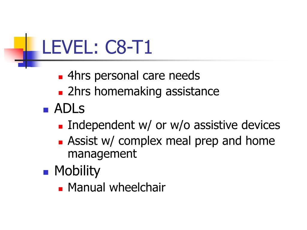 LEVEL: C8-T1