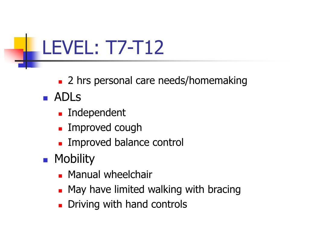 LEVEL: T7-T12