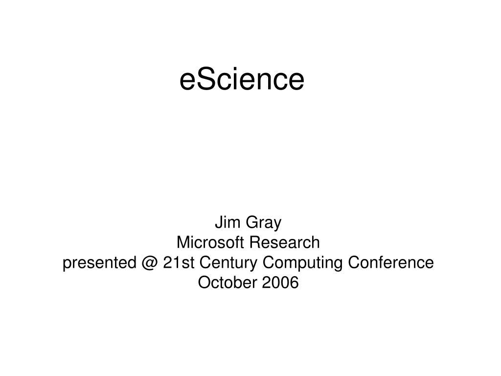 eScience