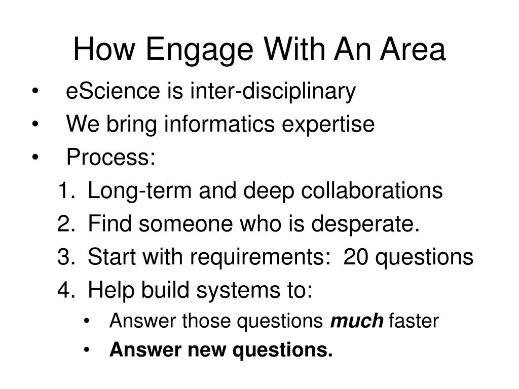 How Engage With An Area