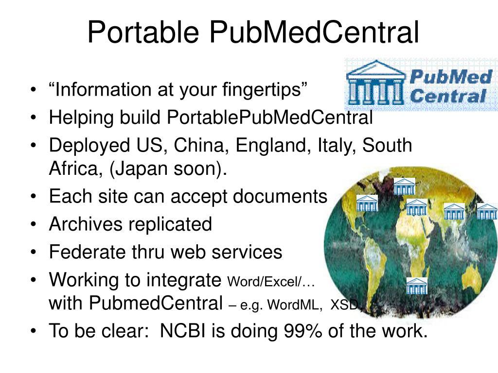 Portable PubMedCentral