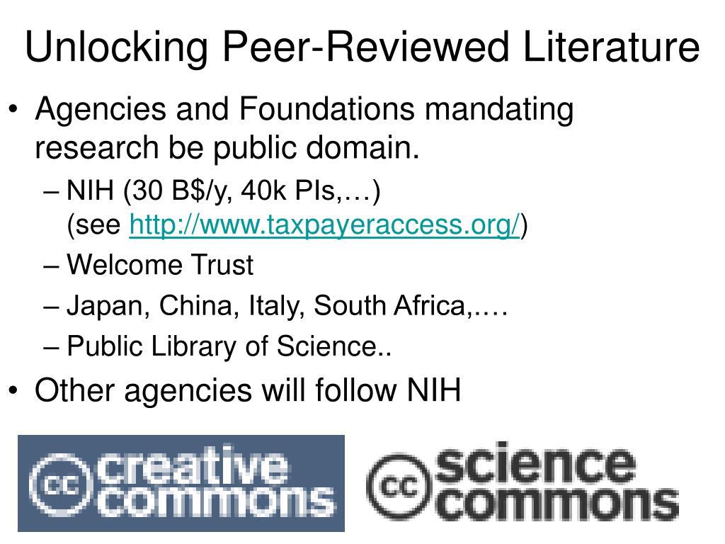 Unlocking Peer-Reviewed Literature