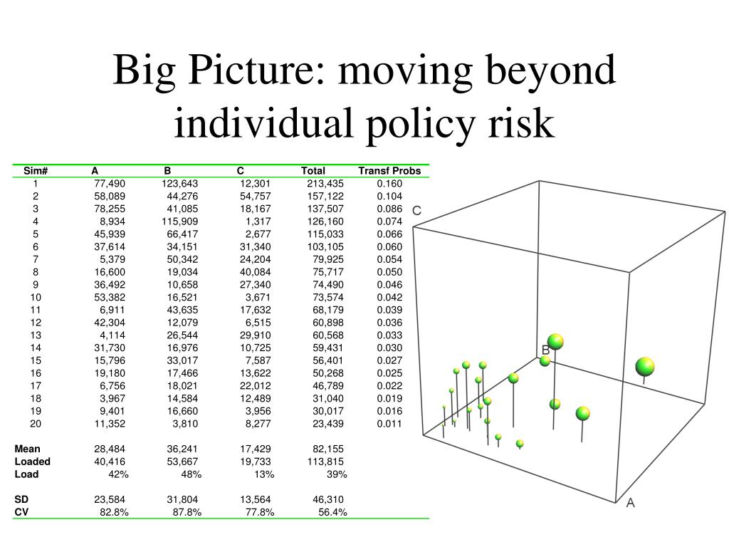 Big Picture: moving beyond individual policy risk