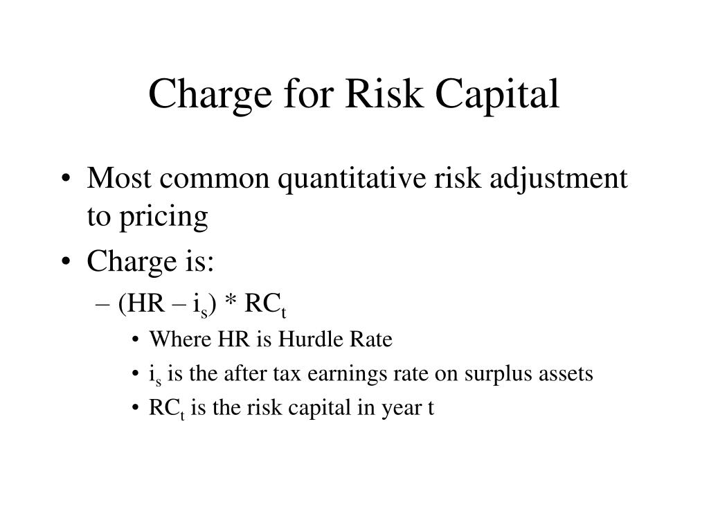Charge for Risk Capital