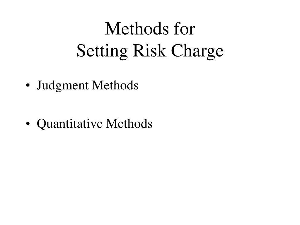 Methods for