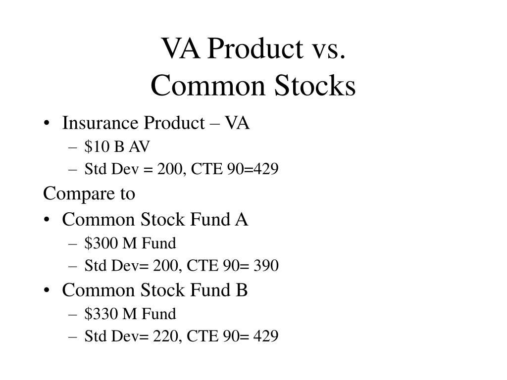 VA Product vs.