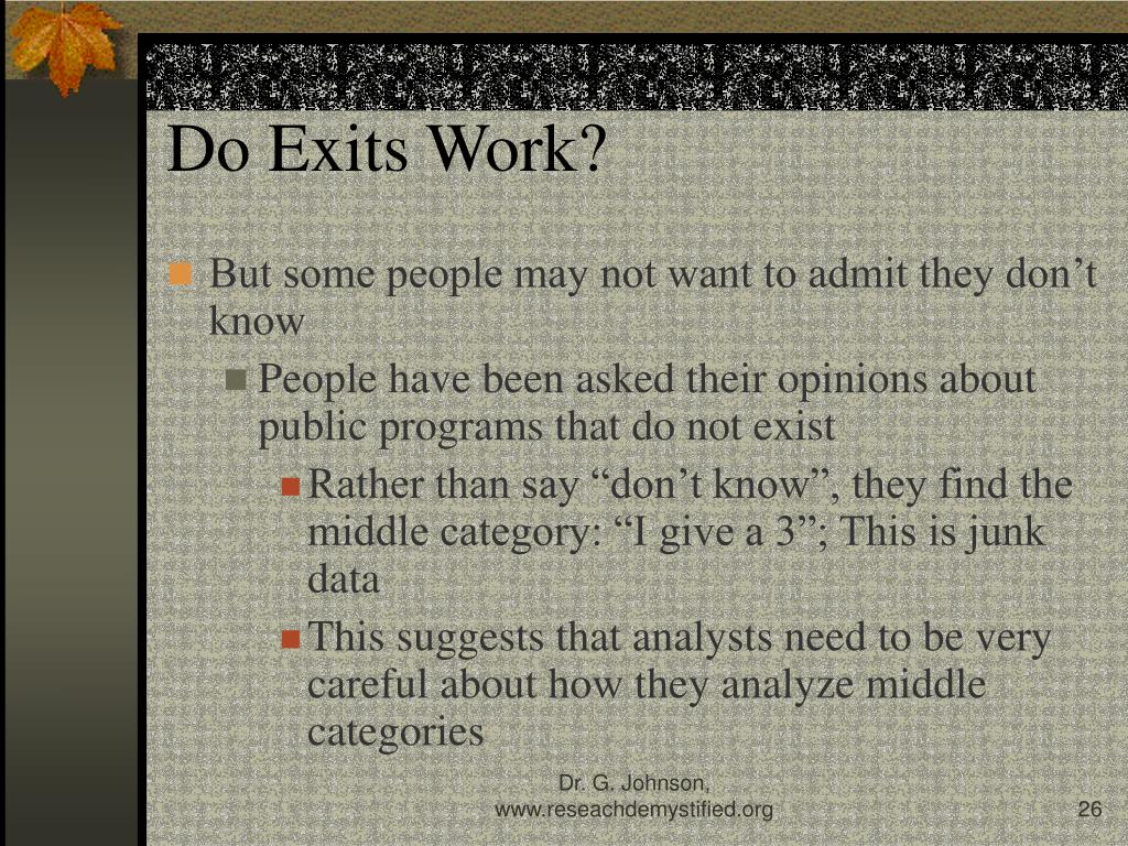 Do Exits Work?