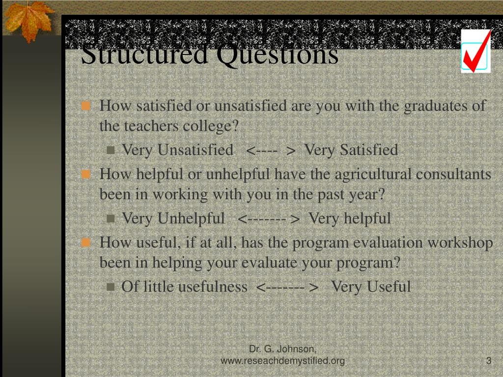Structured Questions