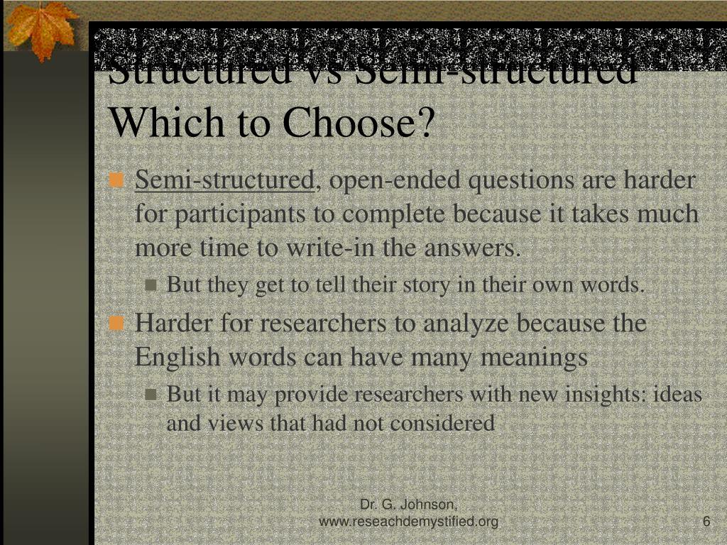 Structured vs Semi-structured