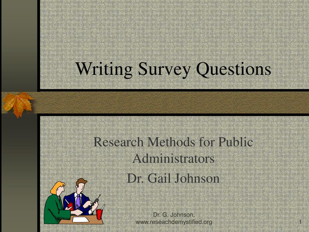 Writing Survey Questions