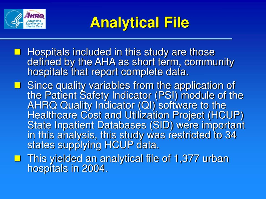 Analytical File